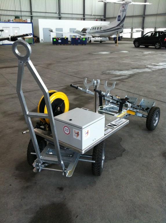 Enrollador para inflado de neumáticos con nitrógeno