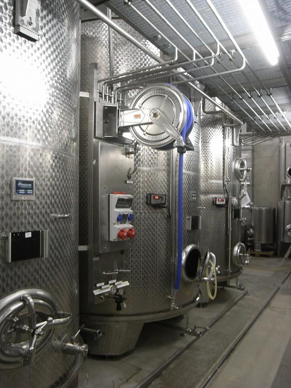Enrollador acero inoxidable para limpieza de cubas de vino