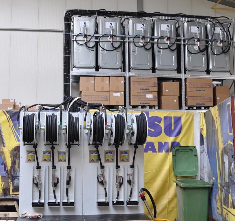 Zona de bombeo y suministros con equipamiento de alto caudal
