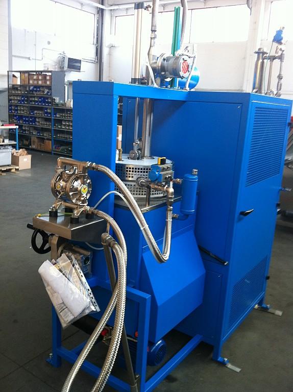 Equipo neumático de membrana para purificación de disolvente